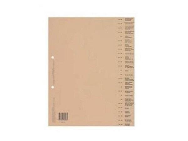 Register Biella Bauabrechnung französisch 26tlg., mit 50 Tarifposten, aus chamoisfarbenem Karton 180g/qm