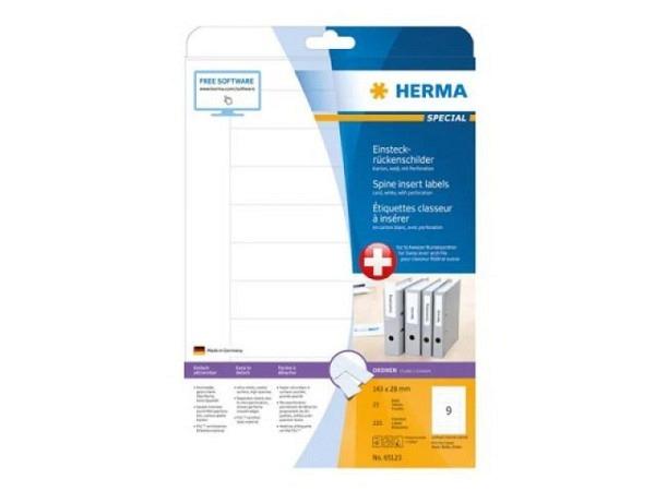Rückenschilder Herma 28x143mm, weiss, 25 Blatt