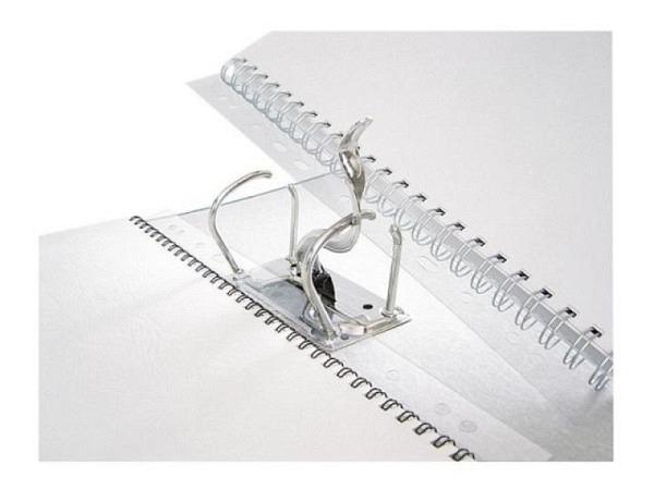Abheftstreifen Renz A4 transparent, 100Stk, mit 34-Loch Universallochung, für Draht-Binderücken 3:1, 2203002