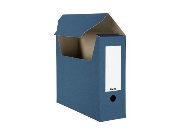Archivschachtel Biella flach geliefert blau