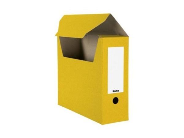 Archivschachtel Biella flach geliefert gelb