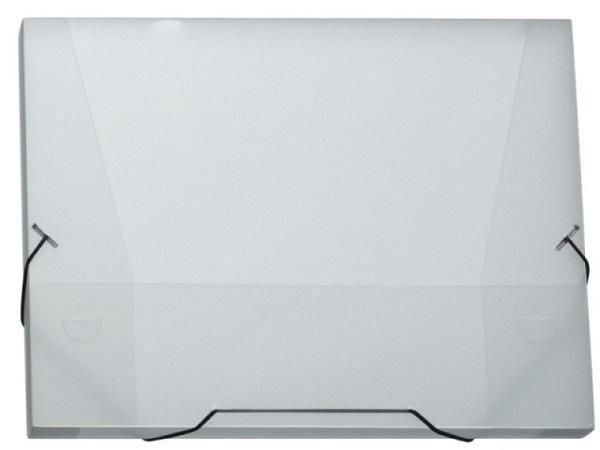 Sammelbox Kolma Penda A4 25mm breit, transparent farblos, mit schwarzem Gummizugband �ber die Ecken,