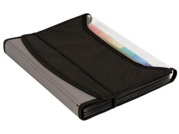 Sammelbox Deli File Box aus transparent blauem o. rosafarben