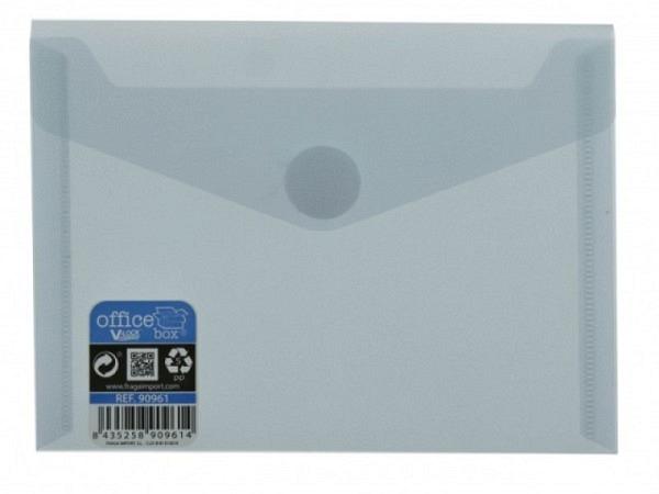 Pendenzenmappe Grafoplas Druckknopfverschluss A4 neongelb, aus leicht transluszentem, glattem Kunststoff, passend f�r A4-Dokumente, Druckknopf in derselben Farbe wie die Mappe