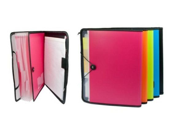 Fächermappe Deli farbig assortiert mit Notizblock A4