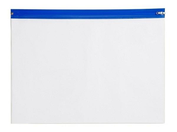 Pendenzenmappe Rumold A5 mit blauem Schiebeverschluss