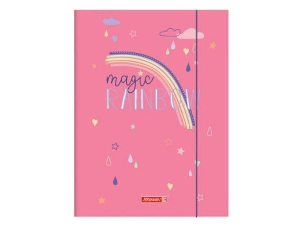 Pendenzenmappe Pagna A4 blau aus Karton, Gummizugmappe mit schwarzem Eckspanngummi zum Verschliessen.