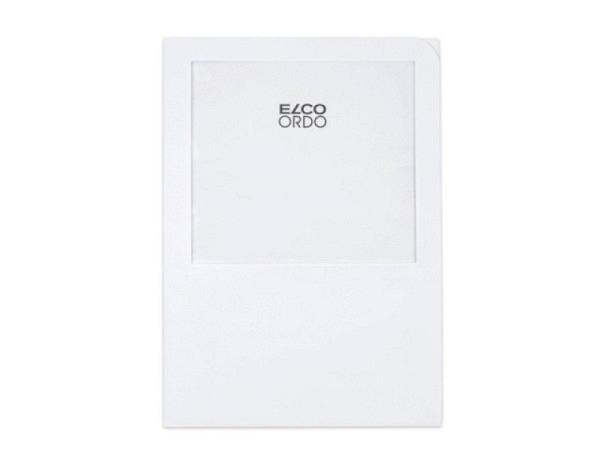 Ordnungsmappe Elco Ordo weiss 100Stk. mit dem grossen Fenster ohne Vordruck, aus Papier 220x310mm