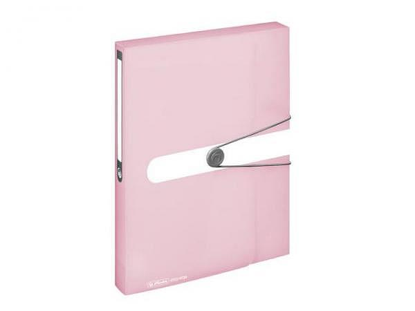 Sammelbox Herlitz Pastell rosé-transparent A4