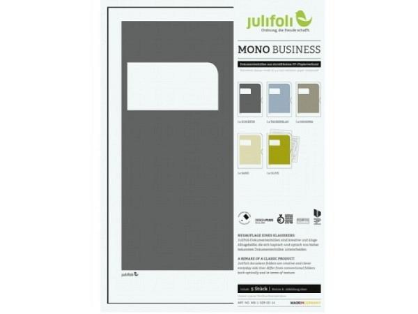Sichtmappen Julifoli Mono Bussiness, 5Stk. in gedeckten Farben