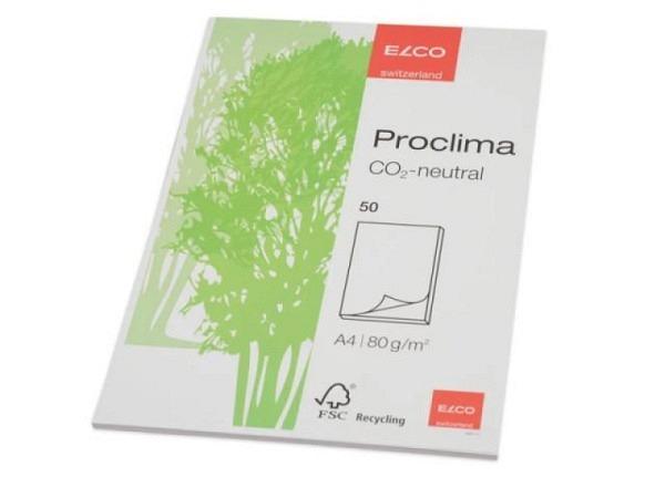 Block Elco Proclima A4 natürlich weiss 70g 50Blatt blanko