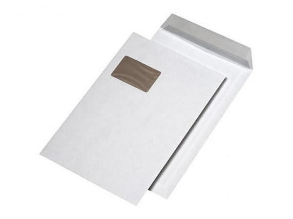 Couverts Mailmedia Kartonrückwand C4 weiss mit Fenster links 125Stk.