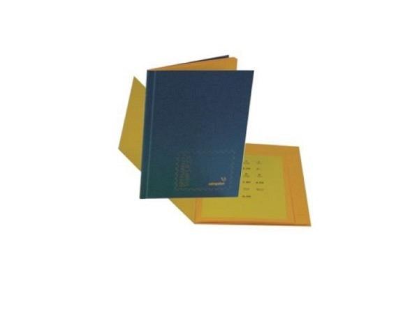 Briefmarkenbuch Simplex unbeschriftet, Pressspan-Deckel grün