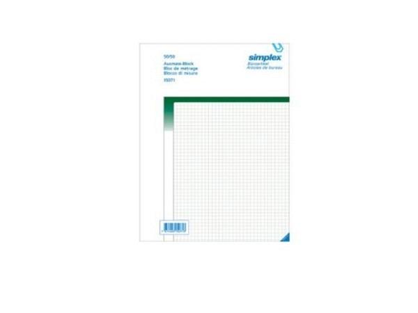 Ausmassbuch Simplex A4 50x2 5mm grün kar. 15071