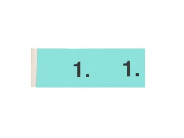 Garderobenblock 1-100 blau