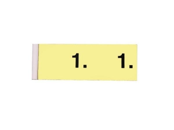 Garderobenblock 1-100 gelb