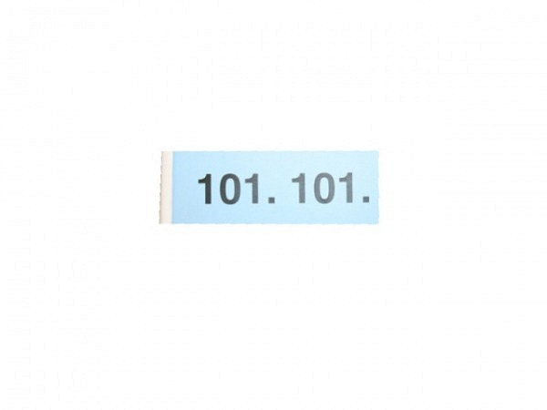 Garderobenblock Simplex 101-200 blau