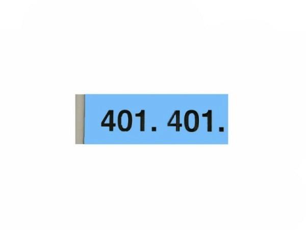 Garderobenblock 401-500 blau