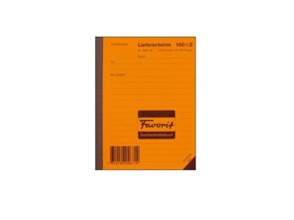 Lieferschein Favorit A6 9082R MK 100x2 Blatt rot/w