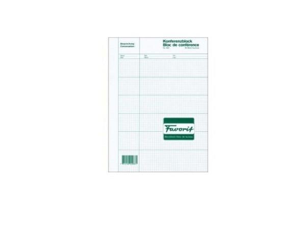 Konferenzblock Favorit A4 50Blatt Papier weiss, 6 Felder