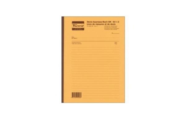 Devis-Ausmassbuch Favorit A4 50x2 perf. 5mm 2095OK