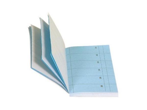 Bonbuch Biella Bonoplan 10,5x19,5cm blau