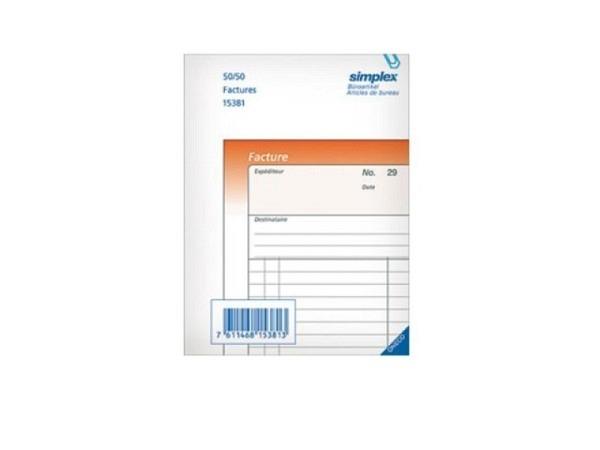 Rechnungen Simplex A6 OK Französisch 50Blatt 15381