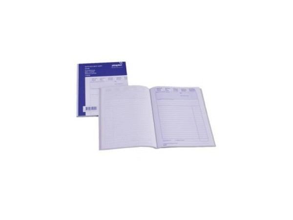 Kombiblock Simplex A5 45/45 1.Blatt blau 2./3.Blatt weiss