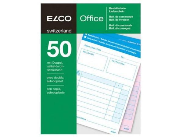 Bestellschein Elco A6 50/50 Blatt weisses Papier 60g/qm, perforiert, 4-sprachig, Original-Nr: 74590.