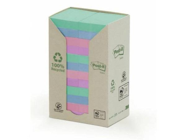Haftnotizen Post-it Recycling 38x51mm Turm mit 24Stk