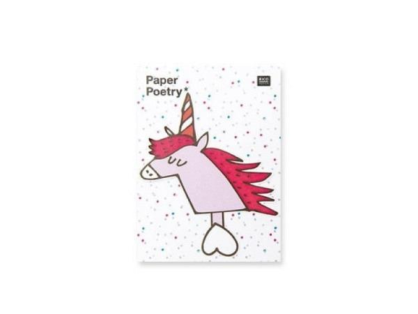 Haftnotizen PaperPoetry Magical Sommer Einhorn