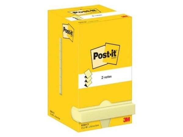 Haftnotizen Post-it Z-Notes 76x76mm neon/pastellpink