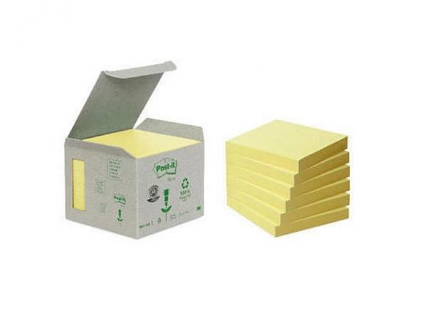 Haftnotizen Post-it Recycling gelb 76x76mm