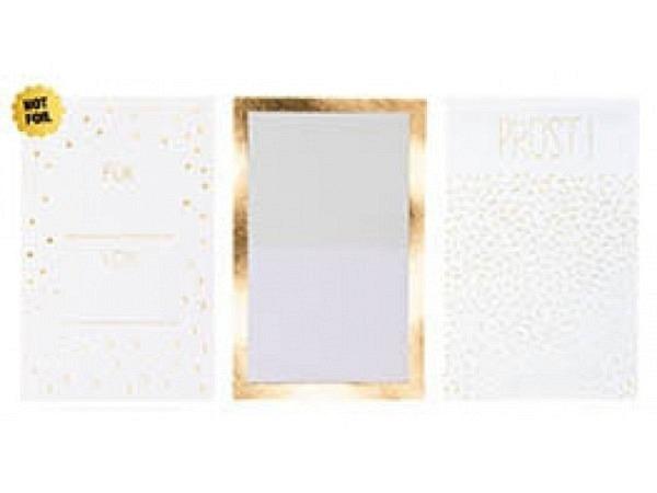 Etiketten PaperPoetry Weinflaschenetiketten Prost, 3 Bogen assortierte Motive mit Goldfolienprägung,
