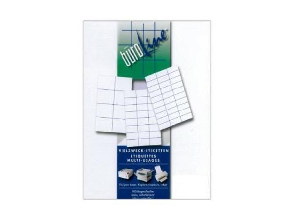 Etiketten BüroLine A4, permanent, 42,3x97mm, weiss