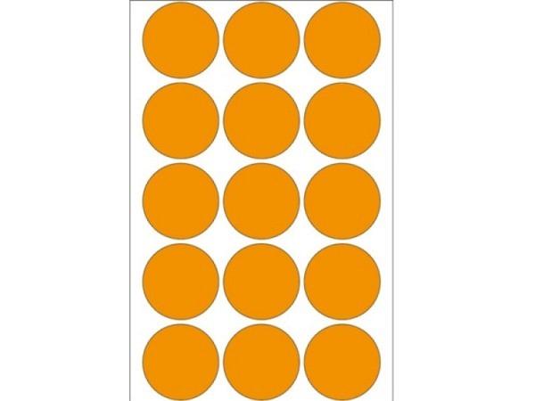 Etiketten Herma Büropackung, Farbpunkte, neonorange,  Ø32mm