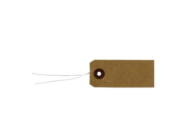 Anhängeetiketten Artemio braun Kraftpack mit Metallfaden