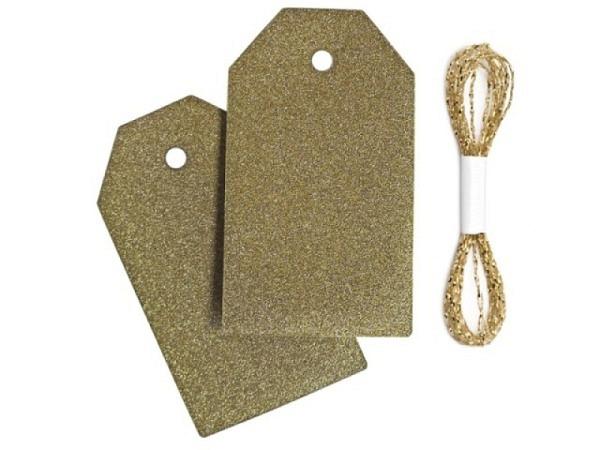 Anhängeetiketten Braun Glamour gold 3,5x6cm 10Stk.