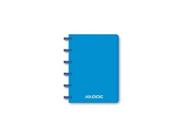 Heft Adoc Pap-Ex Colorlines ohne Register A6 blau transparent