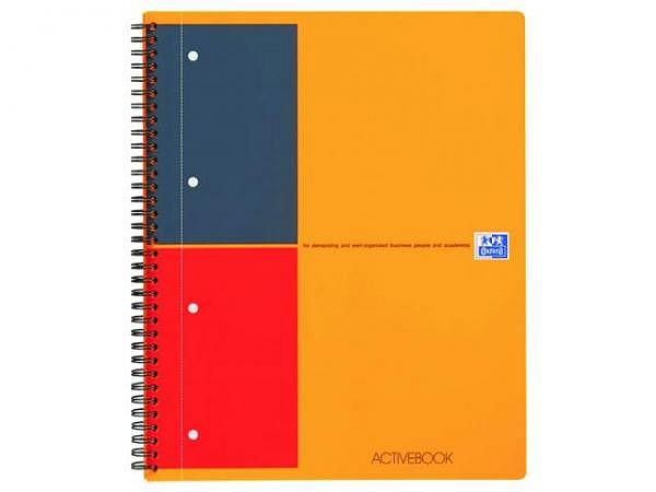 Heft Oxford Easybook A4 m.Spirale liniert 4Loch, perforiert