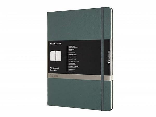 Notizbuch Moleskine Pro Kollektion X-Large Hardcover waldgrün