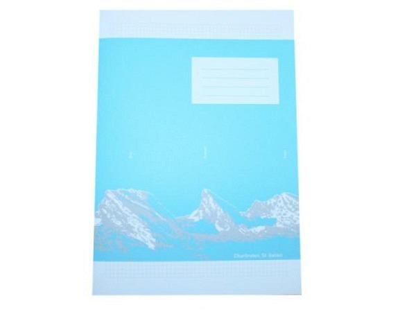 Heft Ingold Biwa Schreibpapier A4 4mm kariert mit Rahmen