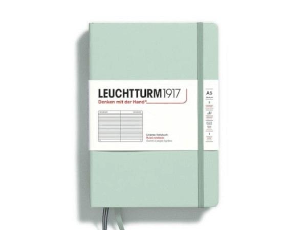 Notizbuch Leuchtturm Mini liniert schwarz, 70x110mm