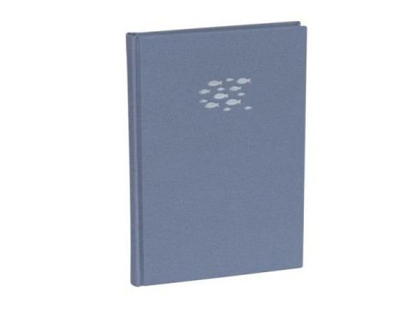 Notizbuch Semikolon Classic A5 punktkariert Leinenbezug Ocean Fish lavablue silber