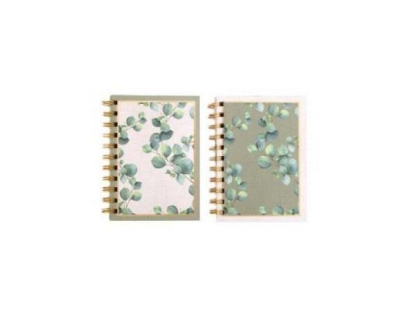Notizheft Eucalyptus Softcover A6 14,6x11,5cm blanko 160 Seiten, mit Spirale