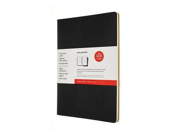 Notizheft Moleskine Cahier Studienheft A4 packpapierbraun/schwarz, 2er Set