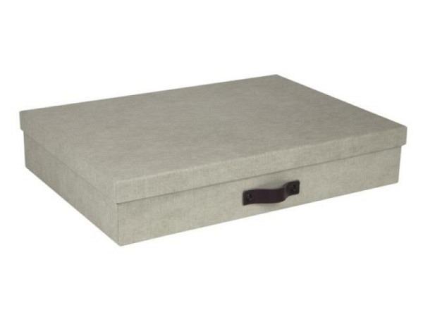 Schachtel Nadelstreifen Archivbox mit Deckel, für Format A4