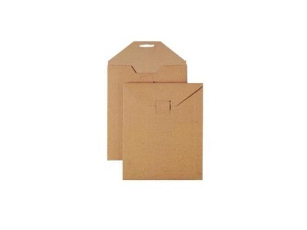 Kartoncouverts braun mit Lasche und Steckverschluss 25x35cm