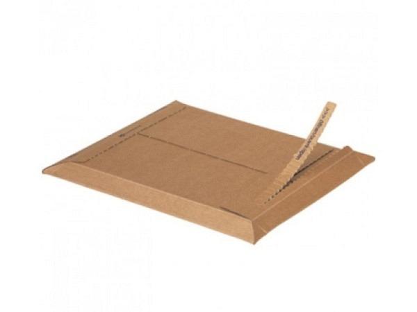 Kartoncouverts Brimail braun 15,4x20cm CDs 1,5mm-Wellkarton