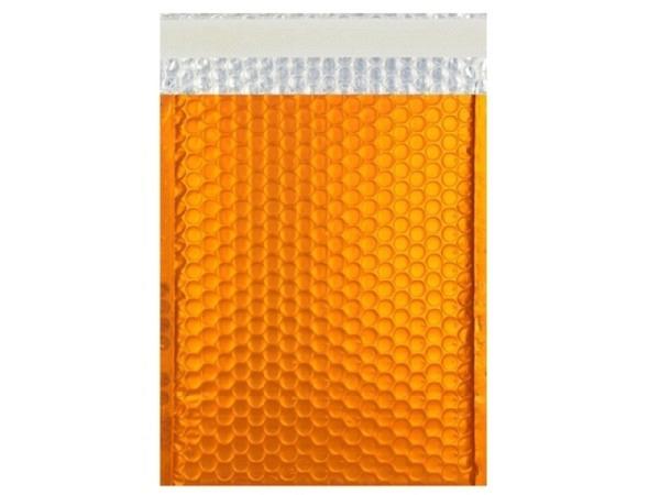 Luftpolstertüte metallisch matt 23x32,4cm orange